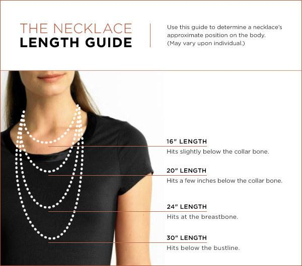 34. And the optimum length for each necklace.