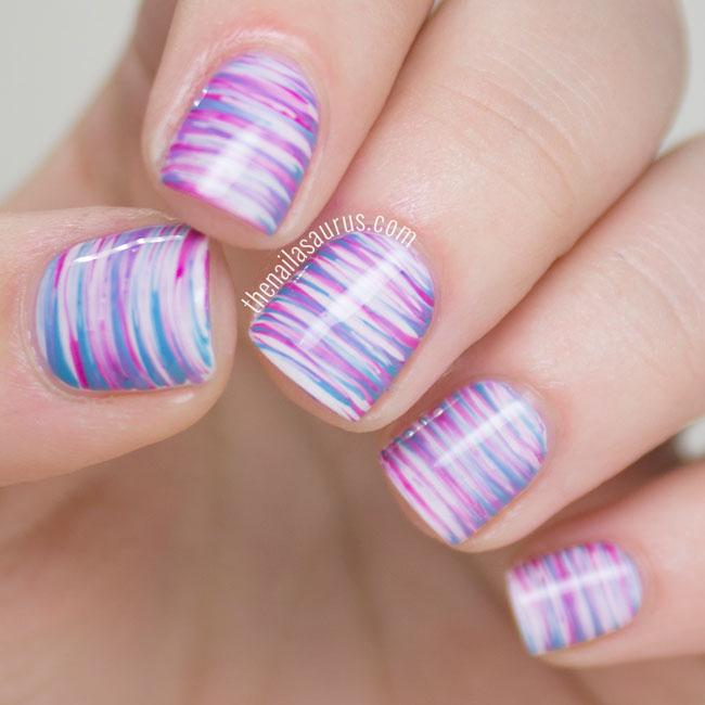 Use a fan brush to get a cool stripey effect.