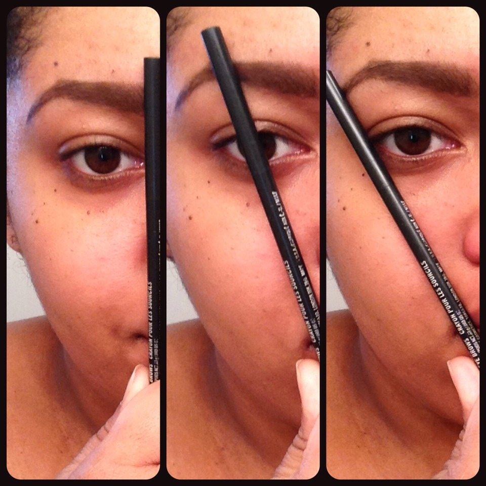 This is how you measure exactly how your eyebrows shape should be like .