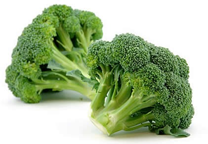 Melt cheese on broccoli.