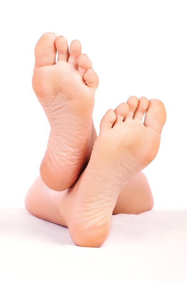 Soak your feet in warm/hot water