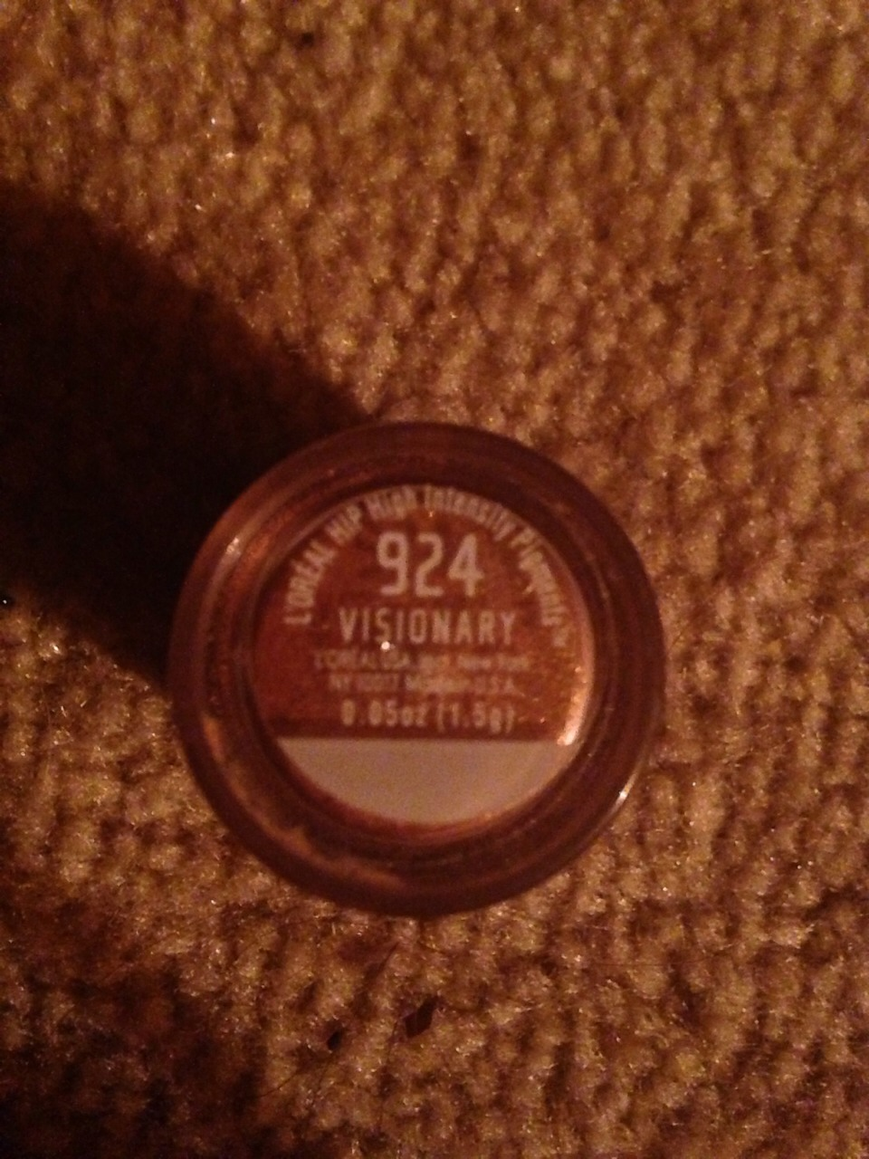 My choice of glitter is  L'oréal Hip High Intensity Pigments shade Visionary #924