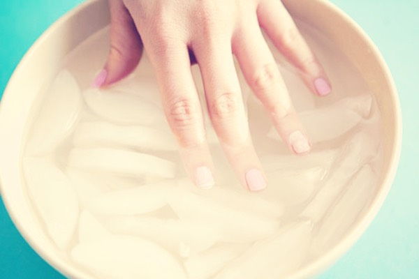 If you are busy and have to be somewhere but just painted your nails, put the nails  in a bowl of ice water. It will dry them on time.