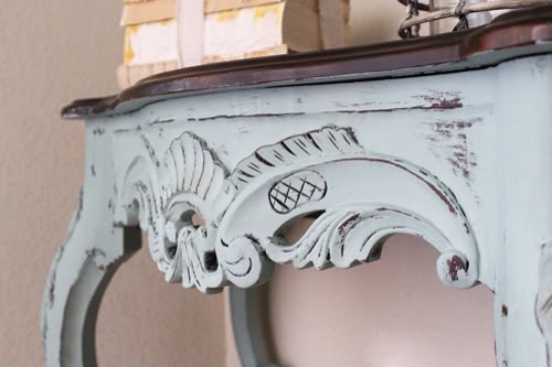 Some things to know:  -Chalk paint has quite a matte (chalky) finish, but you receive luster by buffing.  Still, the sheen would equate to a satin finish…or maybe even somewhere in between satin and semi-gloss.