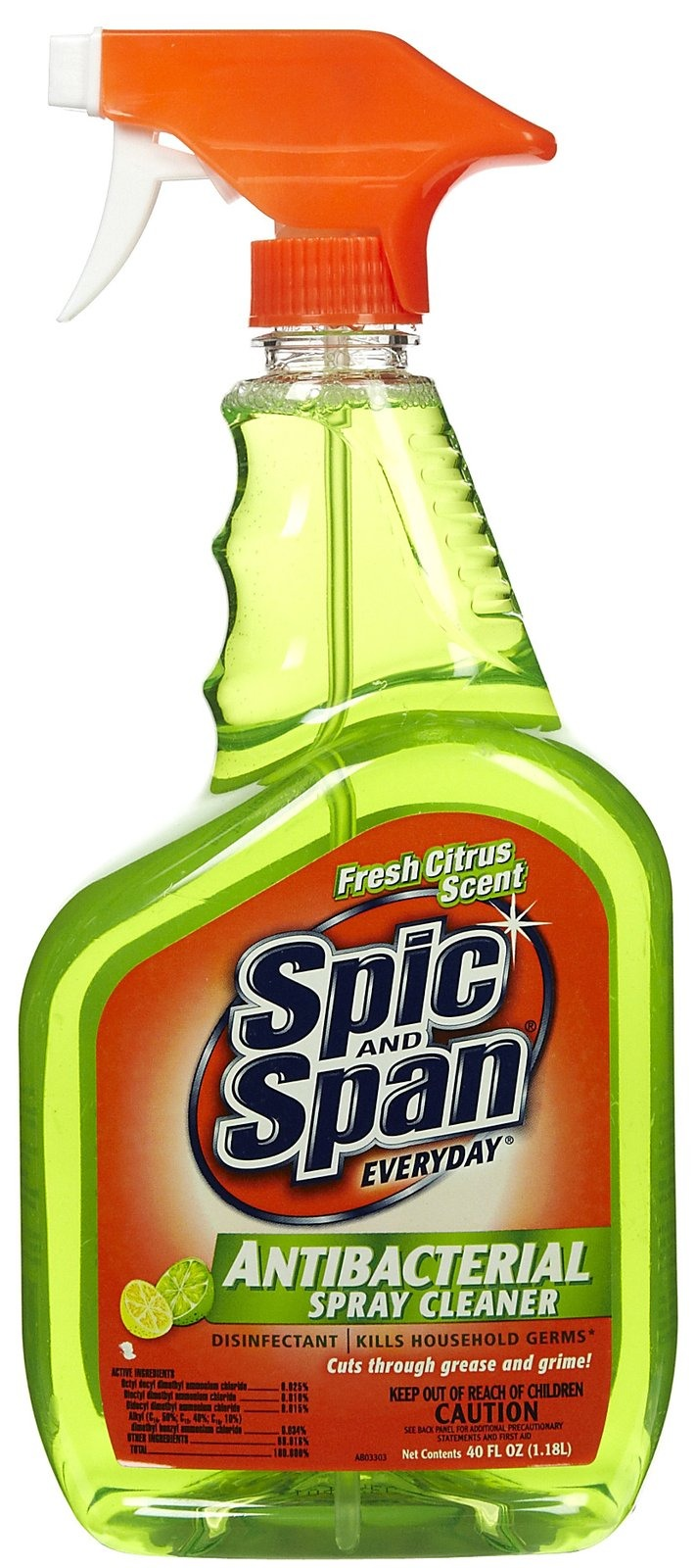 Spic and span antibacterial kitchen cleaner