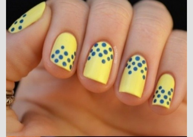 Add polka dots to the tip or moon of the nail, or cove the entire nail.