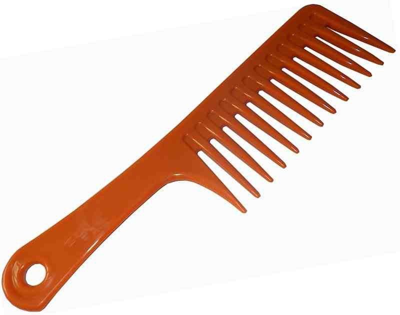 Wide tooth combs are use to prevent less breakage to the hair shaft. When combing, it's important to start from the ends on up. If you start at the roots, you may risk damaging hair follicles.