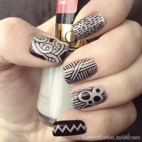You can use sharpies to draw on cute patterns.