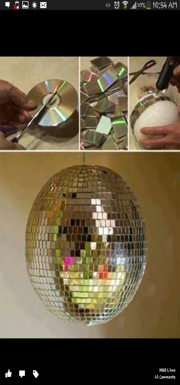 make your own disco ball!🎉🎊