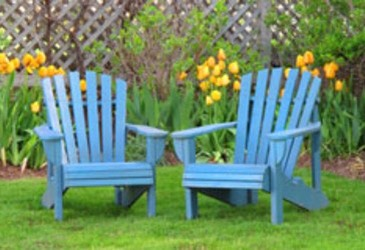 Clean Your Plastic Lawn Chairs: To rid your plastic chairs of caked on dirt, spread foam shaving cream onto the furniture to soften the dirt. Let it sit for about 15 minutes, and then hose the furniture down to rinse away the dirt.