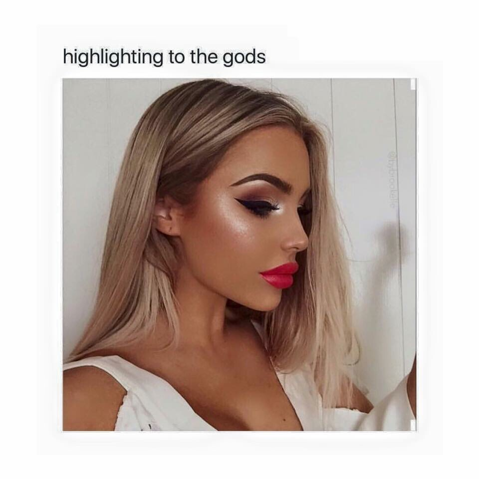 That highlighter tho is on point😍😍👌🏻