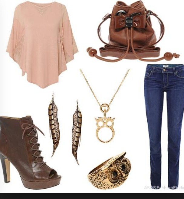 One of my favorites: I love brown leather😍it goes great with brown accessories and light worn out pink color (worn out clothes are the best clothes 💎)
