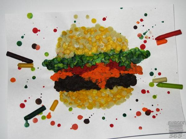 Melted Crayon Burger