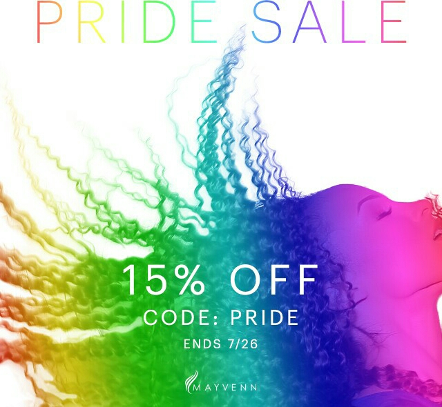 "PLUS take 15% off your order when you use the coupon code ""PRIDE""!"