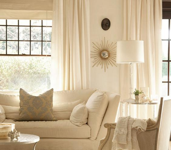 White on White You can't go wrong with an all-white space. To prevent it from feeling like a hospital room, introduce different textures. A crocheted throw, a rough-hewn linen sofa, and a nubby rug all add depth to a monochromatic look.