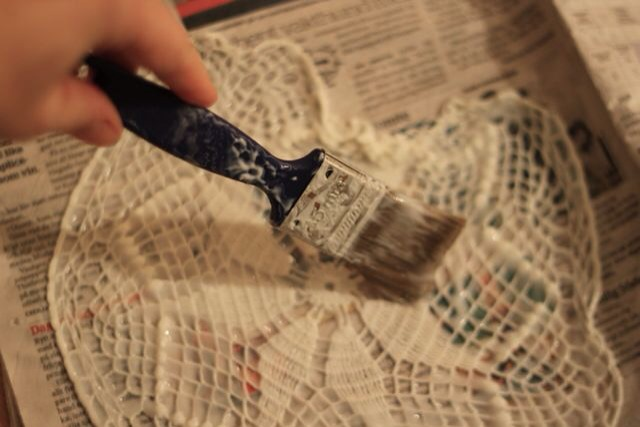 Paint them with a lot of wallpaper glue so that they are soaked in it.