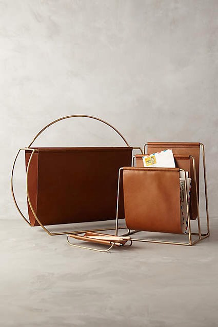 For Your Magazines Don't let them stack up and turn into clutter! Instead, use an attractive magazine holder. http://www.anthropologie.com/anthro/m/product/home-office/32707333.jsp#/