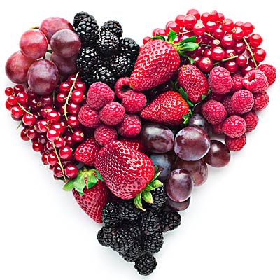 BLUEBERRIES, STRAWBERRIES, RASPBERRIES, BLACKBERRIES, CRANBERRIES are excellent sources of vitamin C, potassium, fibre, and powerful antioxidant and phytochemical. They help relax blood vessels and lower blood pressure. Berries may also increas HDL ( good cholesterol )