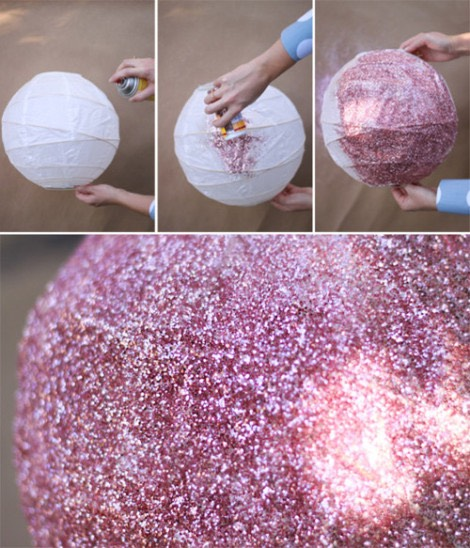 Make a glittery lantern