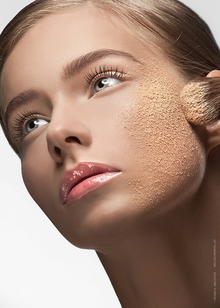 Makeup on dry skin!!You should be exfoliating once a week because applying foundation onto dry skin will accentuate flakiness, and it will sit on the top of your face instead of blending in.