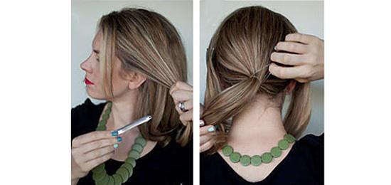 Separate your hair in parts (4-8 is fine)
