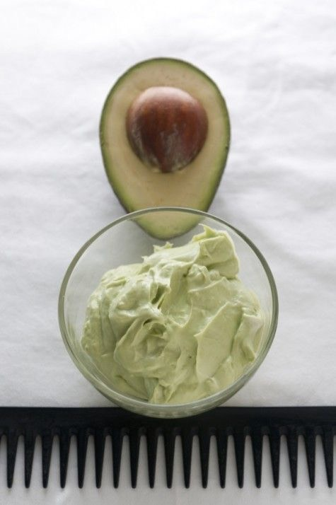 1-  You have to smash the avocado and add equal quantities of the olive and coconut oils ( the quantity depends of your hair length )