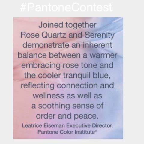 #PantoneContest Colour Of The Year: Rose Quartz and serenity