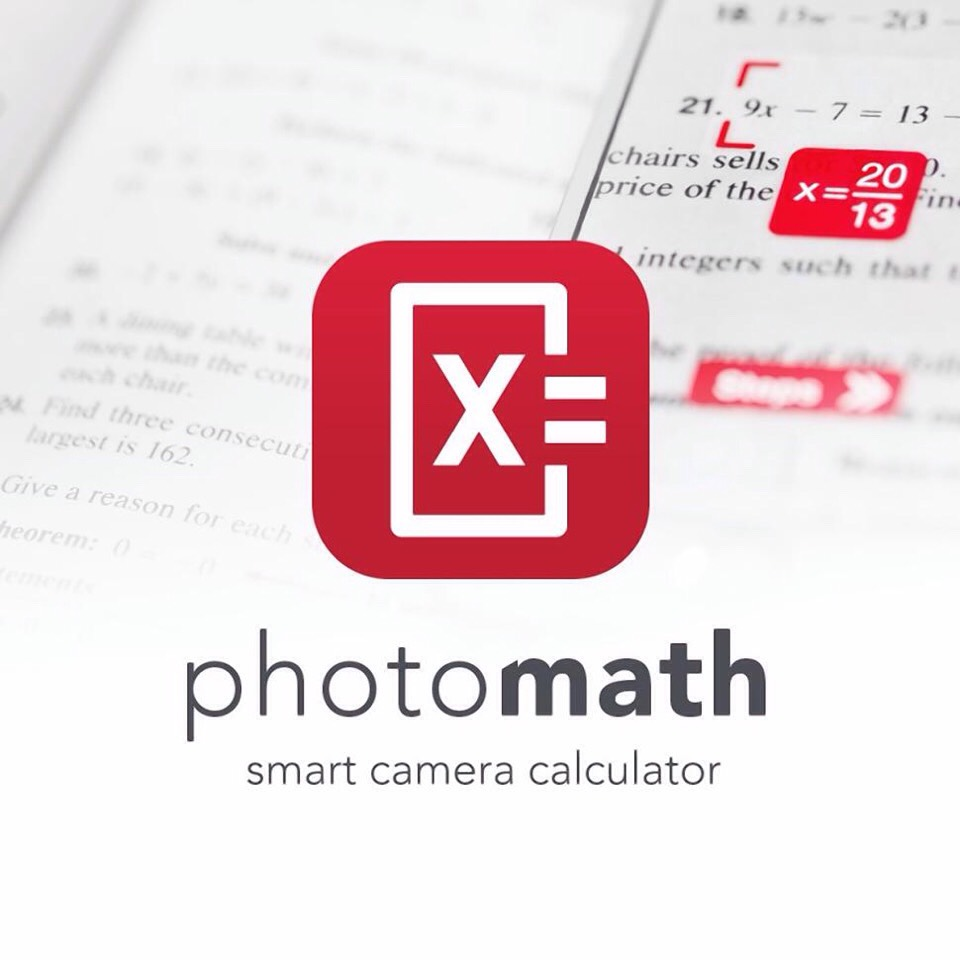 - just take a photo of the math problem and it solves the problem for you