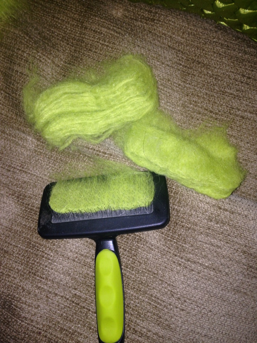 You will have to clear the bristles on your brush a few times during the matt clearing but the dog brush is easy to clean and compacts the fluff beautifully.