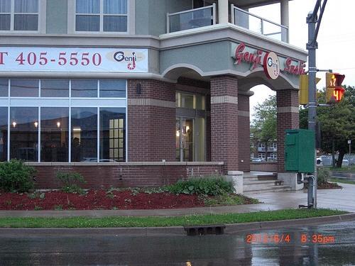Left side view of restaurant