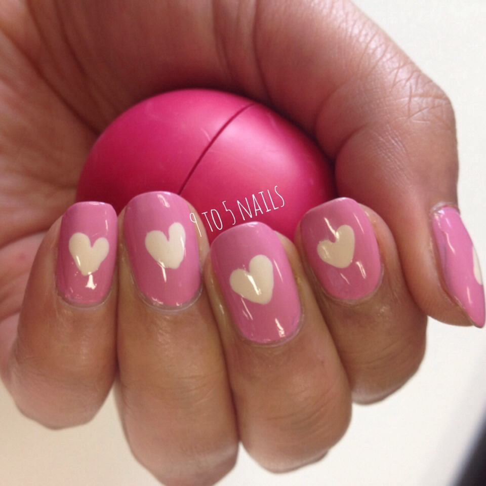 Love Heart Nails For Valentines Day❤ by fun diys by shauna - Musely
