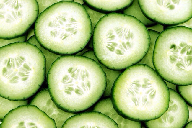 Cucumber is rich in silica – an organic mineral that strengthens the skin, by protecting the connective tissues. It effectively reduces puffiness (caused mainly by water retention), without leaving your skin dehydrated. It also tightens + tones, which makes it great for people with enlarged pores.