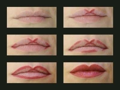 19. Use this easy guide to create a sweet lil' Cupid's bow outline.