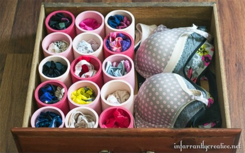 13. Create drawer organizers.
