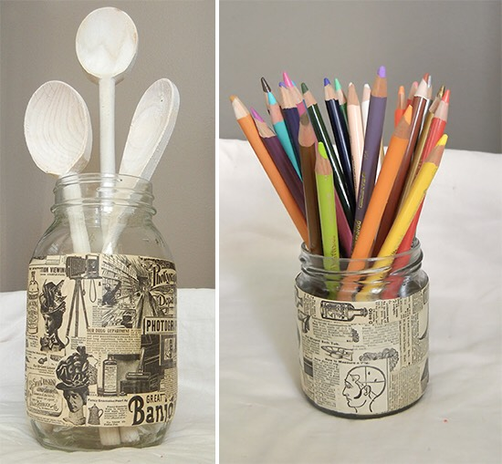 Decorated pencil container