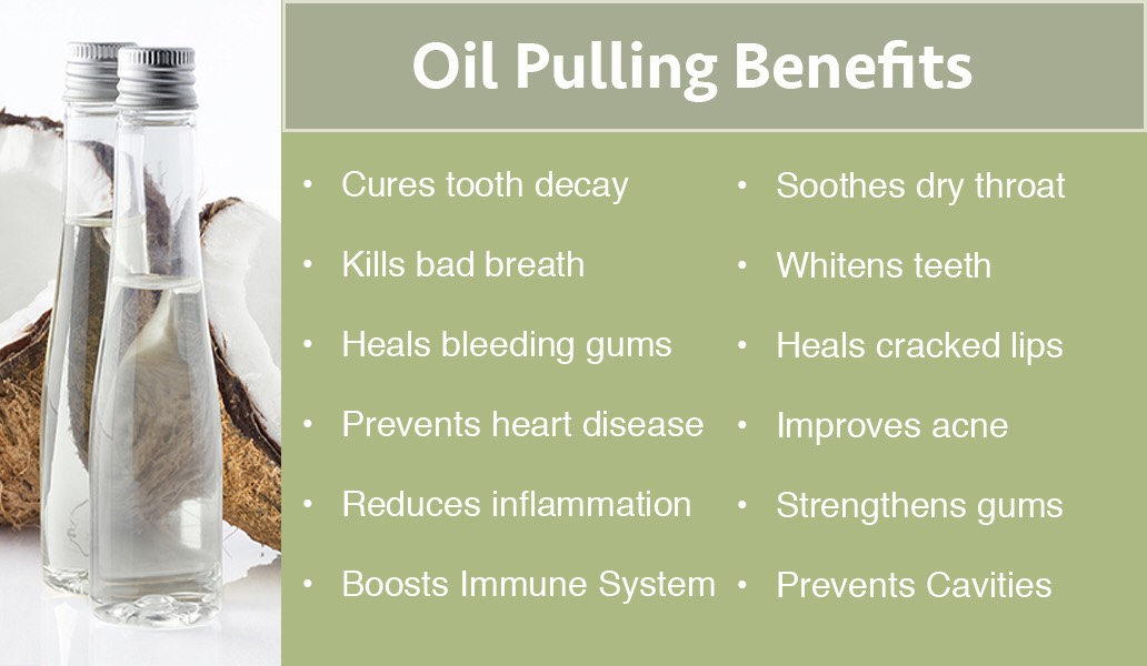 These are some of the benefits of oil pulling
