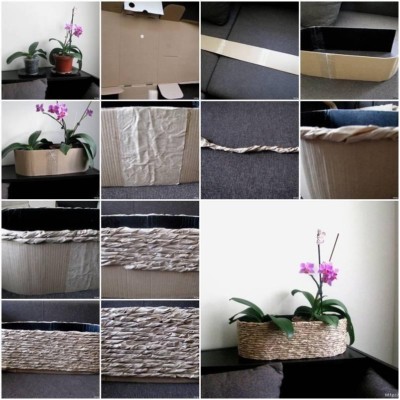 Cardboard plant holder