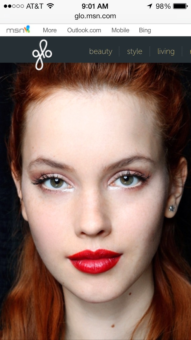 "yes, you can wear red lipstick!     SHARE  For very fair skin with cool undertones... Opt for a pink or blue-based red. ""As a general rule, lip colors that have similar undertones to your skin's will look the most natural on you,"