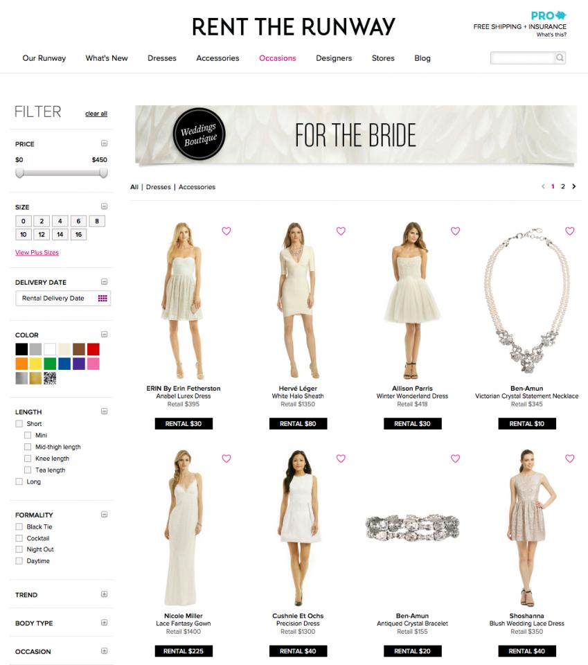 4. Rent the Runway Bridal