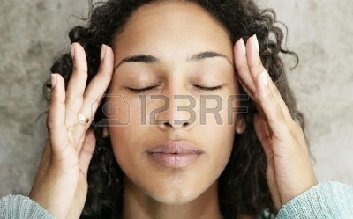 Massage temples earlobes scalp or neck