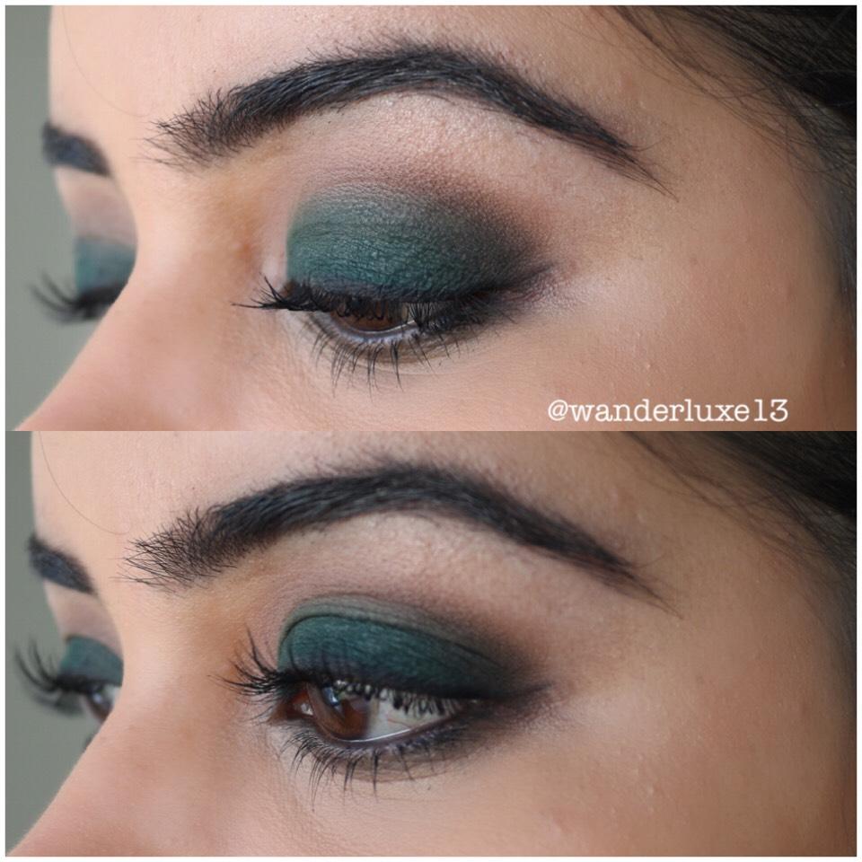 """Green smokey eye tutorialon my YouTube channel """"wanderluxe13"""""""
