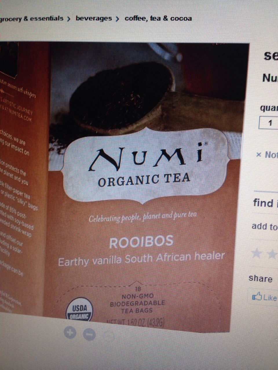Can find it at target.   Complete List of benefits here:   http://www.undergroundhealth.com/10-amazing-health-benefits-of-rooibos-tea/