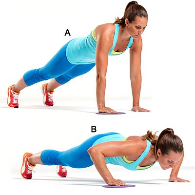 Basically I'm just showing you different push-ups that you can do