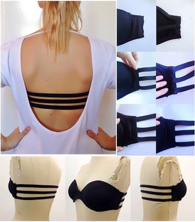 Transform a plain strapless bra into an attractive 3 strap brassiere that's acceptable to be worn with strapless or backless outfits. (Link in info)