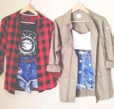 Denim shorts + tank top + any button down shirt = Perfect Casual