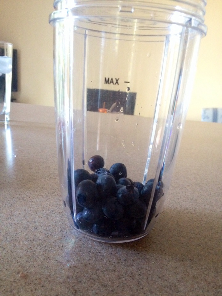 First put the blueberries