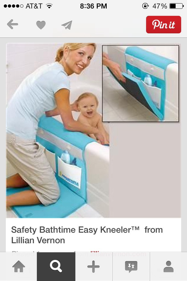 Safety bath-time easy kneeler!!💞