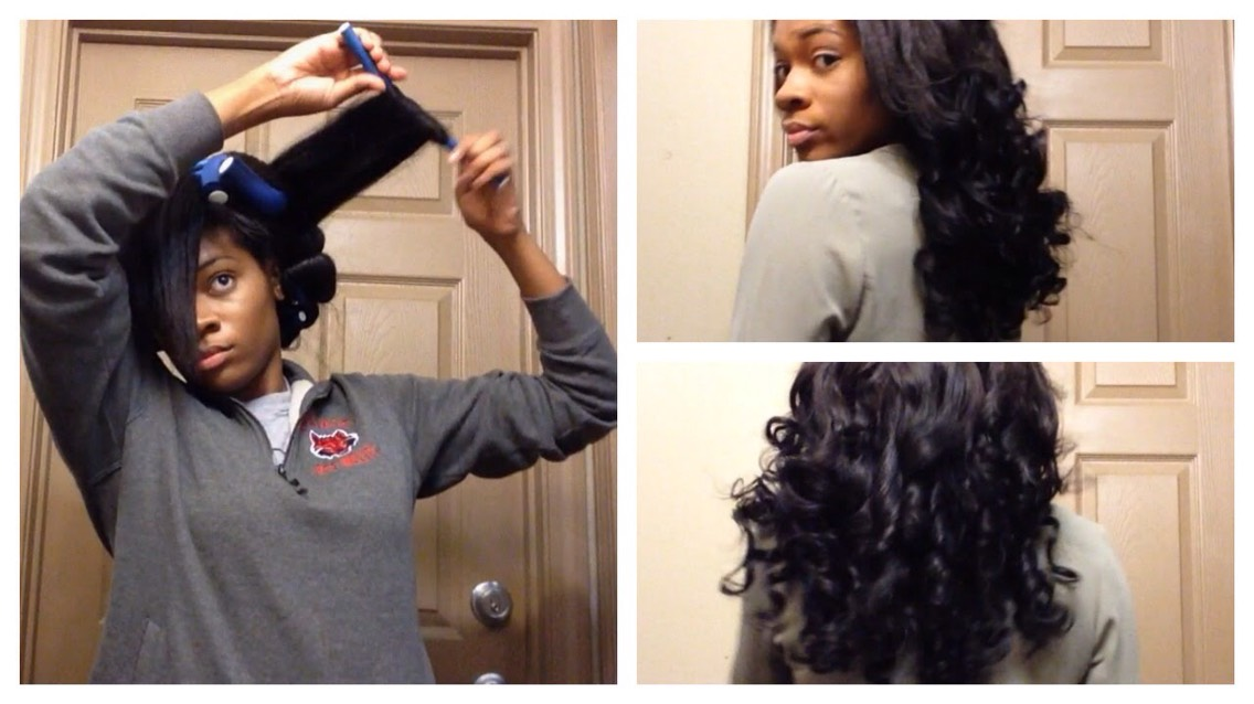 If you wrap it flat like she has it it will be more of a ringlet type curl