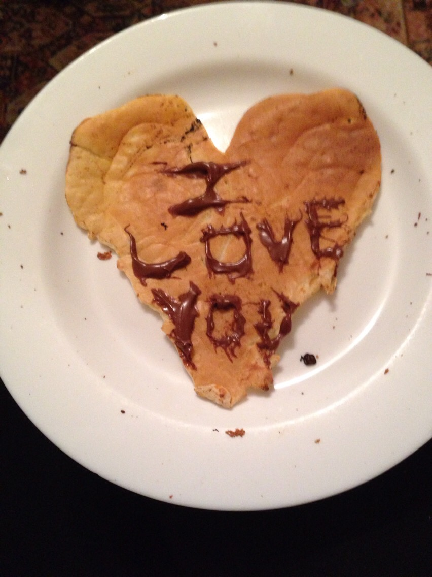 Make her a love heart pancake with Nutella, she will think it's cute and adorable