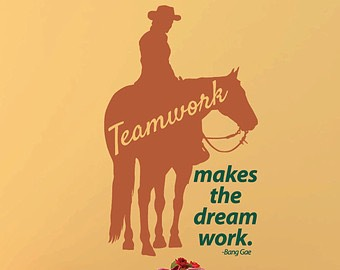 Teamwork- you both need hard work for you to improve. Not just you, not just your horse; both of you.
